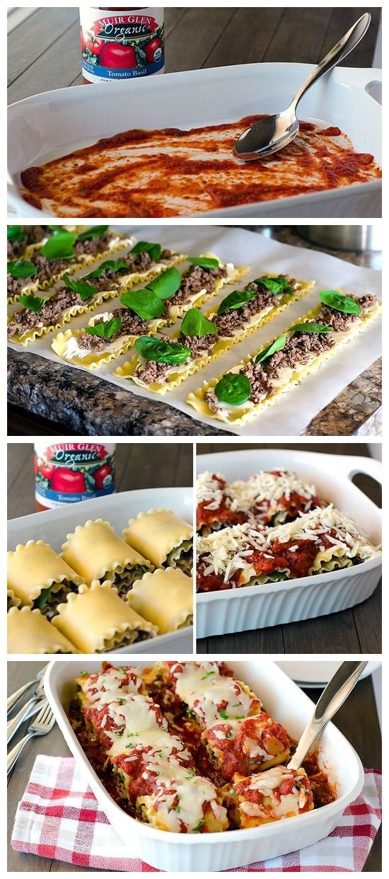 Cheesy Lasagna Roll-Ups Recipe