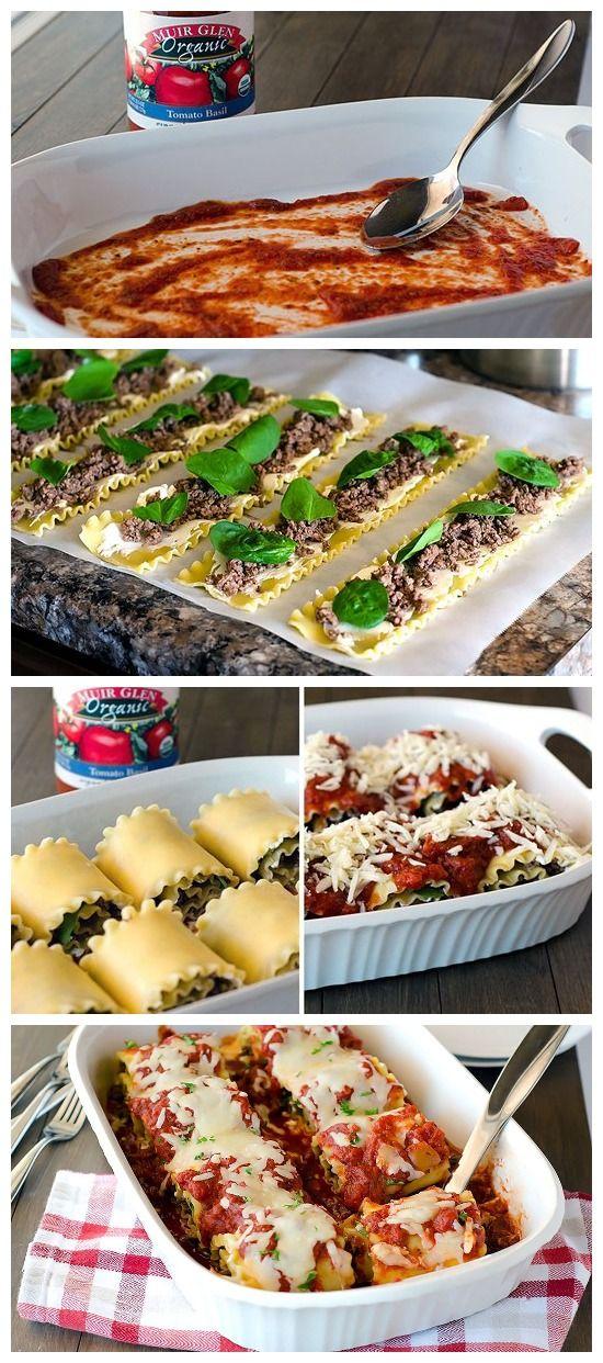 Cheesy Lasagna Roll-Ups Recipe