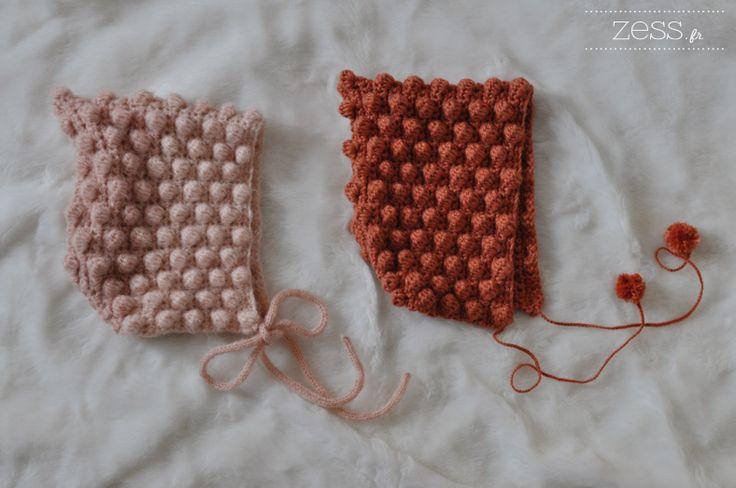 TUTO crochet : béguin à pompons (+diagramme) - Zess.fr // Lifestyle . mode . déco . maman . DIY