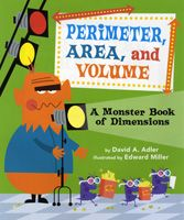 This book shows how to calculate perimeter of the set, area of movie screen, and volume of popcorn box.