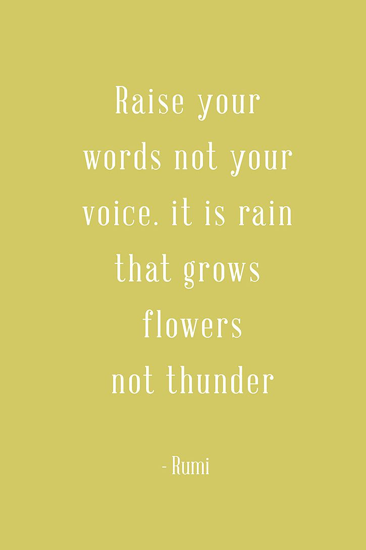 "Father Daughter Quotes Cute ""Raise your words not your voice It is rain that grows flowers not thunder"