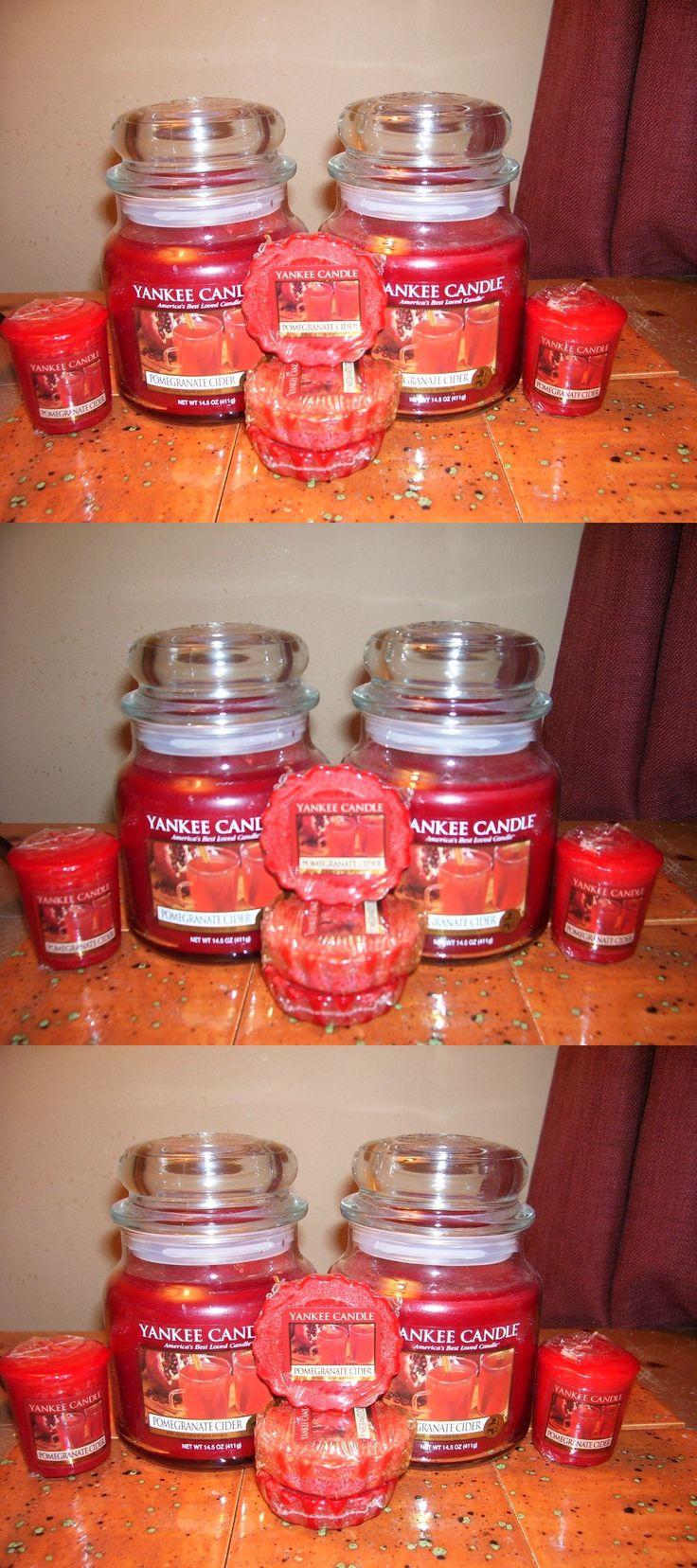 Candles 46782: Yankee Candle 2-14.5Oz Jars Pomegranate Cider+ 3 Tarts+2 Votives -> BUY IT NOW ONLY: $36 on eBay!