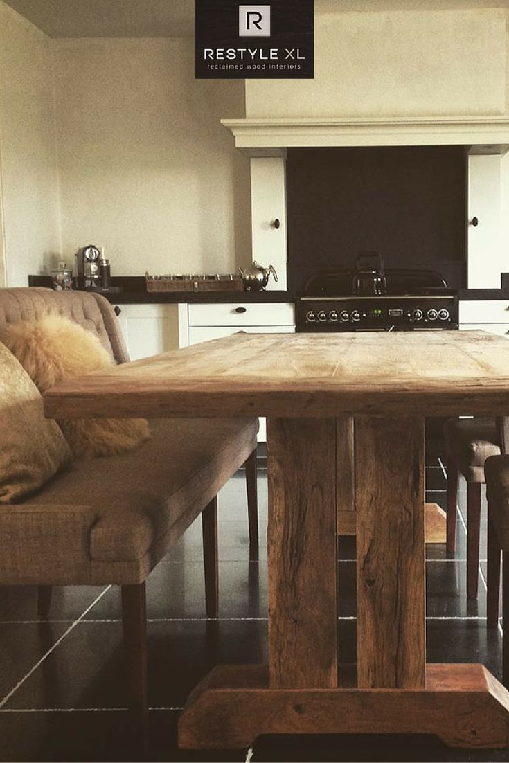 25+ beste idee u00ebn over Eiken Tafel op Pinterest   Houten tafel, Tafel en Tafelpoten