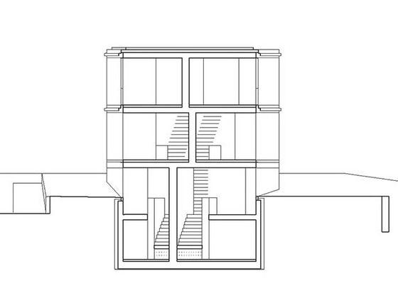 Wohnhaus Zürich Schnitt
