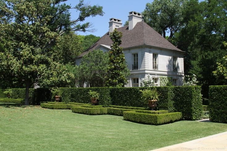Landscape Architect, Arabella Lennox-Boyd, Designed Formal Gardens to Link Main House, Pool House, and Guest House