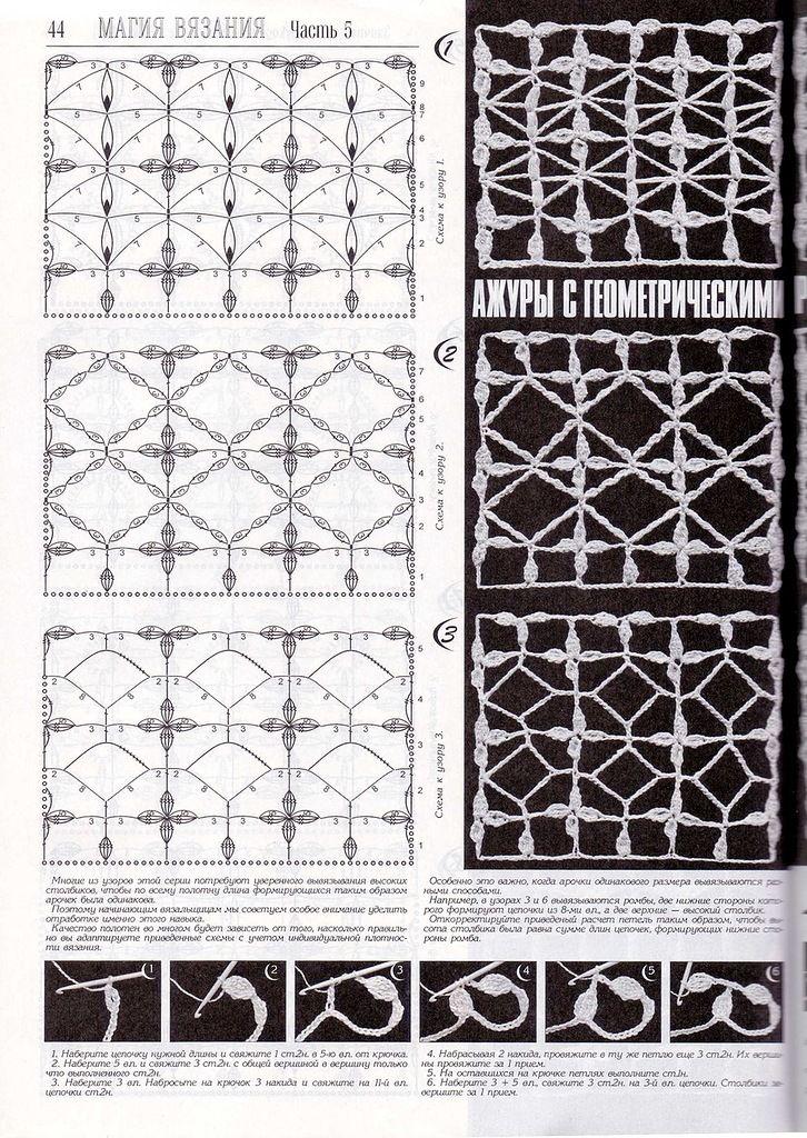 263 best Häkelmuster Openwork / crochet patterns stitches images on ...