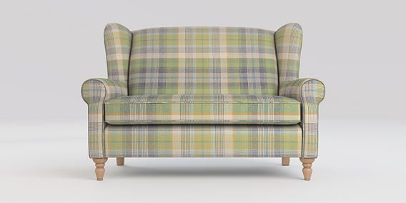 Buy Sherlock Petite sofa (2 seats) Versatile Check Milton Green High Turned - Light from the Next UK online shop