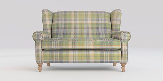 Buy Sherlock Petite sofa (2 seats) Versatile Check Milton Green High Turned - Light from the Next UK online shop