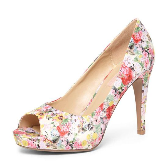 Dorothy Perkins Multi Coloured Floral 'Corinna' Court Shoes
