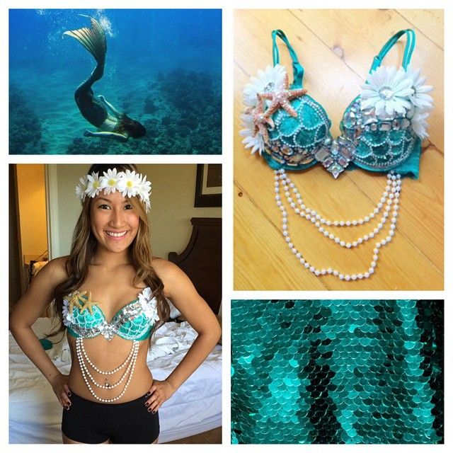 """253 Likes, 14 Comments - seagypsy couture (@seagypsycouture) on Instagram: """"@_dangit was a gorgeous mermaid at EDC Orlando 🐬💙🐚 make a custom order by emailing…"""""""