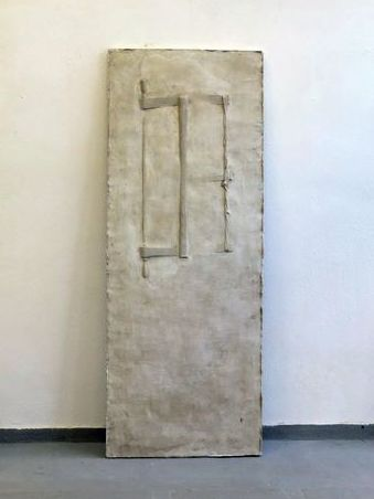 "Door / Handsaw for two, Plaster, 2015 Part of the installation ""Material Matters _space I"", 2015. Artist: Georgia Nikolakopoulou"