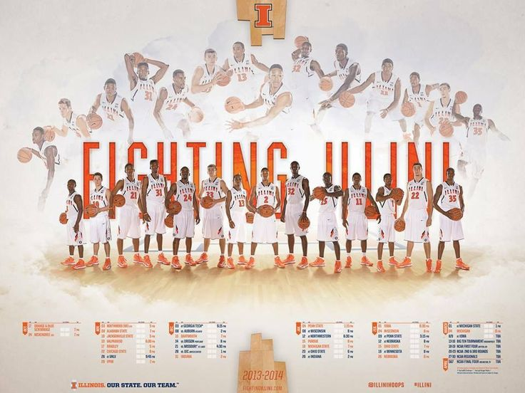 2013-14 Illinois Basketball schedule poster