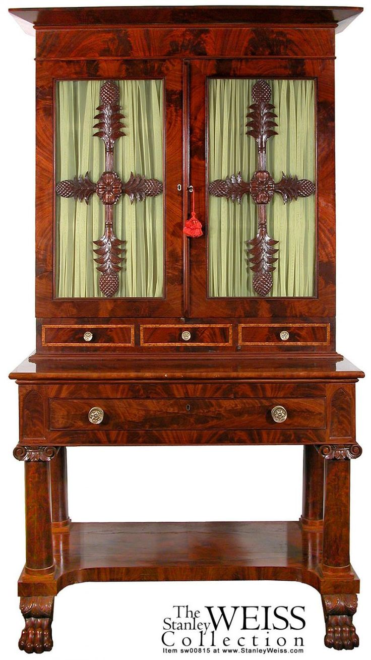 Auction company 751 walnut victorian marble top parlor table ca 1870 - A Classical Carved Figured Mahogany Bookcase On Stand Attributed To Anthony H Jenkins