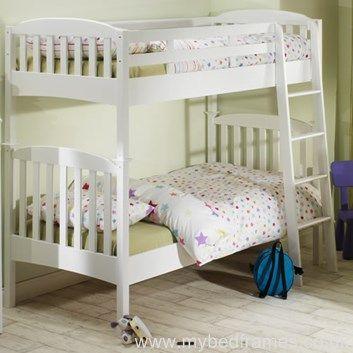 Eleanor white wooden bunk bed | MyBedFrames