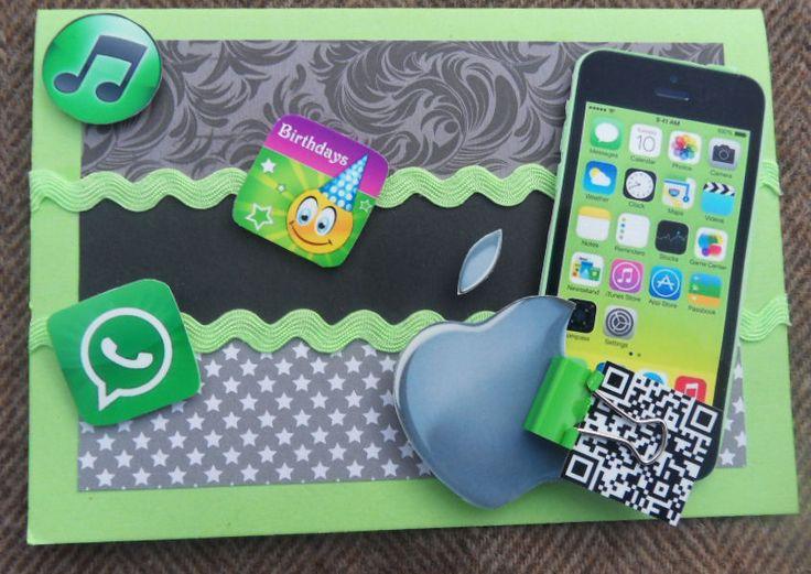 I Phone scrapcard - I Phone kaart