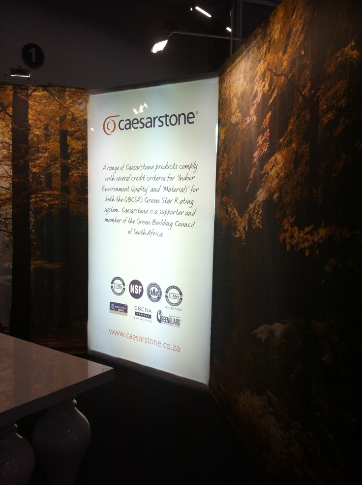 Ceaserstone Stand lights up at the Green Building Council Convention and Exhibition