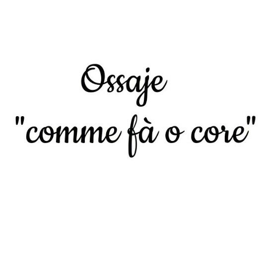 Ossaje comme fa o core_Pino Daniele