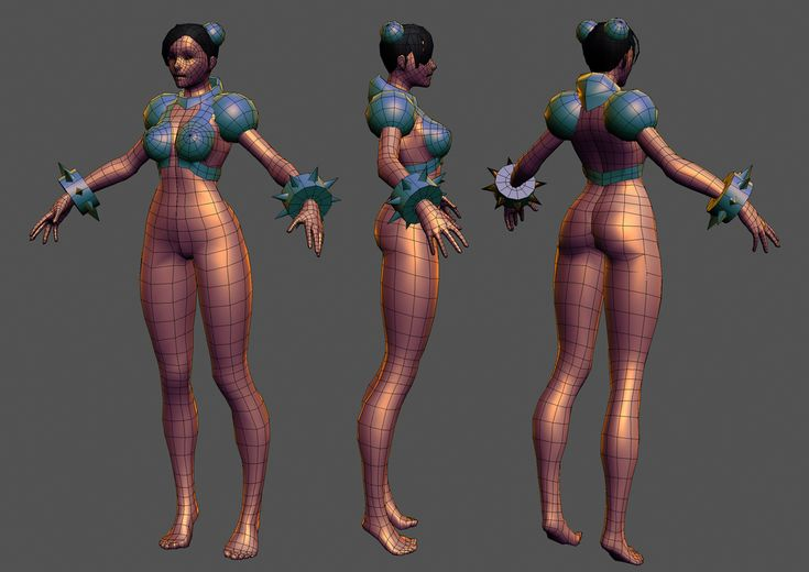 Hazardous on Polycount | Going to give Chun Li the full cyber treatment    Laatest Update:
