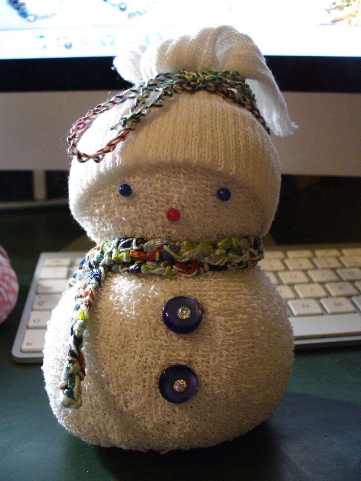 sock snowman #9