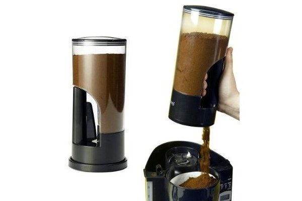 This coffee grinder that releases exactly 1 tablespoon of ground coffee at the push of a button! We Want!