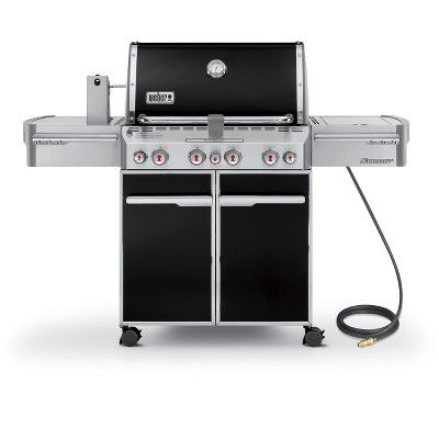 Weber Summit E-470 Natural Gas Grill, Black