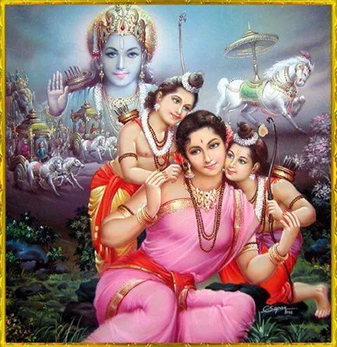 Ram and sita sons Lava and Kusa