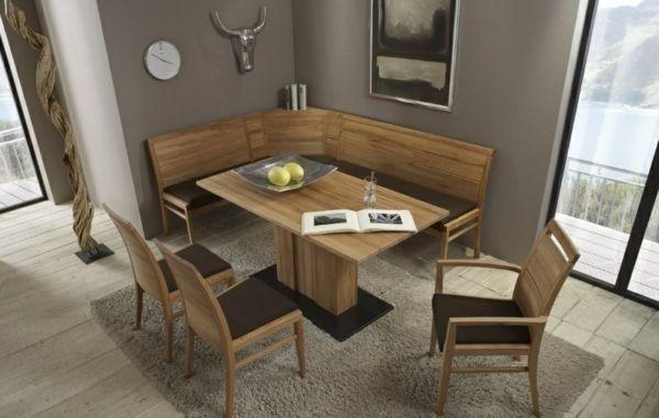 Esszimmer Eckbank Design Holz Wandekoration Speisezimmereinrichtung Eckbank Kuche Esszimmer