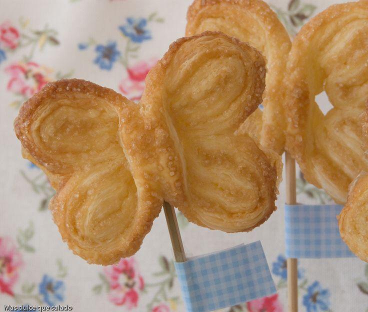 Más dulce que salado: Mariposas de Hojaldre