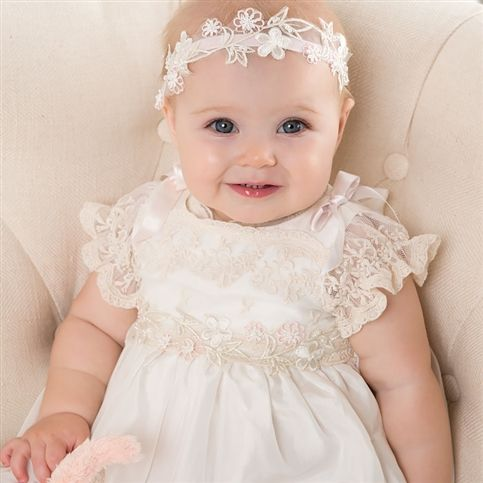 Jessica Christening Gown (Girl) | Silk Baptism Clothes & Dresses - Fancy Gowns & Dresses