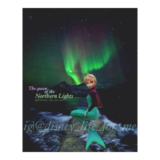 Elsa As A Mermaid Queen Northern Lights Aurora Made By