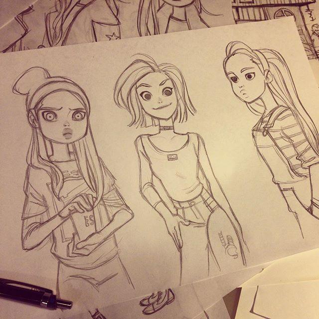 Instagram media by anna_cattish - ⭐️⭐️⭐️ #sketching #girls
