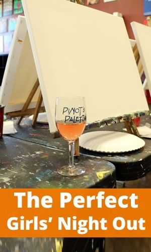 Perfect Girls' Night Out - Paint and Wine Party (this sounds awesome! Must remember for my next bday...)