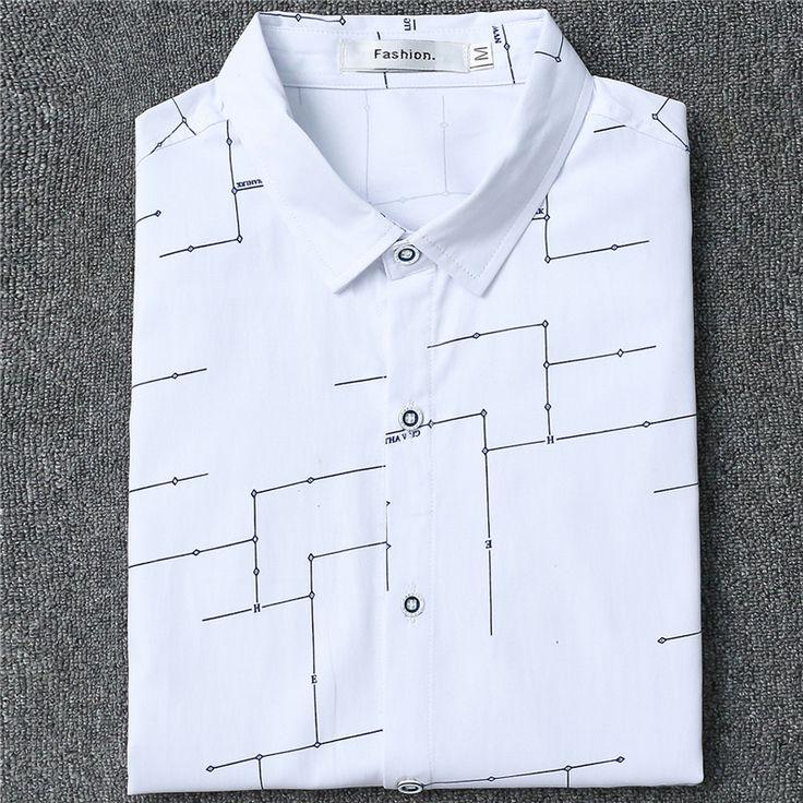 2017 Nouveaux Hommes de Mode Robe Chemise Casual Designer Haute  Qualité Mâle Chemise D'affaires Plus La Taille M ~ camisa  masculina
