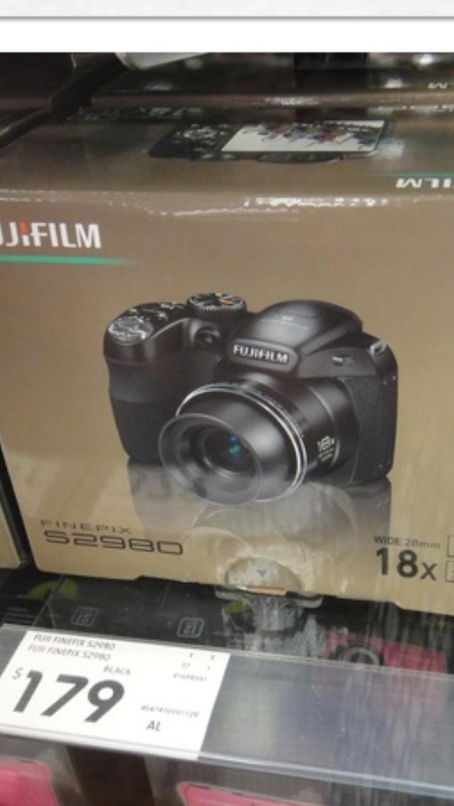 Michelle, Kmart.  Fuji Film Camera, $170.00