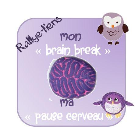 """Rallye - lien : """"brain break"""" ou pause pour cerveaux en surchauffe! - La classe de Mallory"""