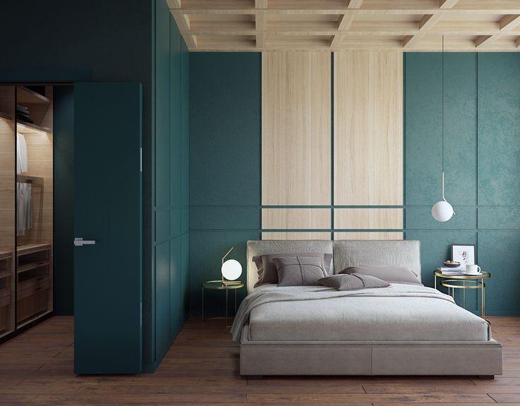 GREEN WOOD BEDROOM on Behance
