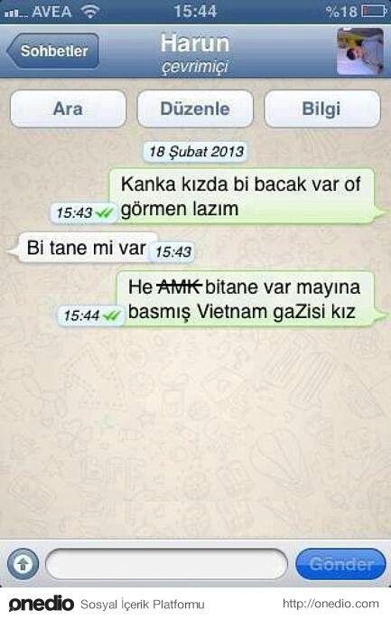 Komik mesajlar #iletiler