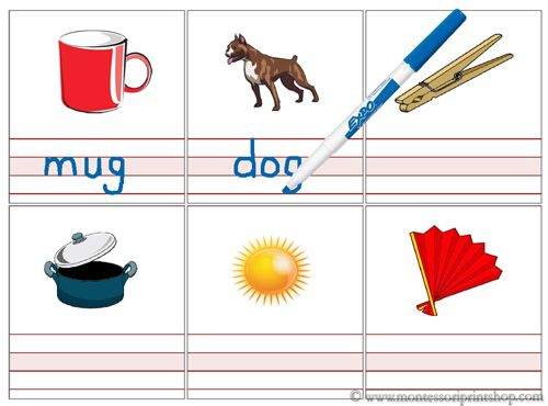 Write and Wipe: 3 Letter Words - 3 sets of printable sheets