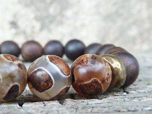 KetyS / náramek Natural ... tibetský achát Dzi