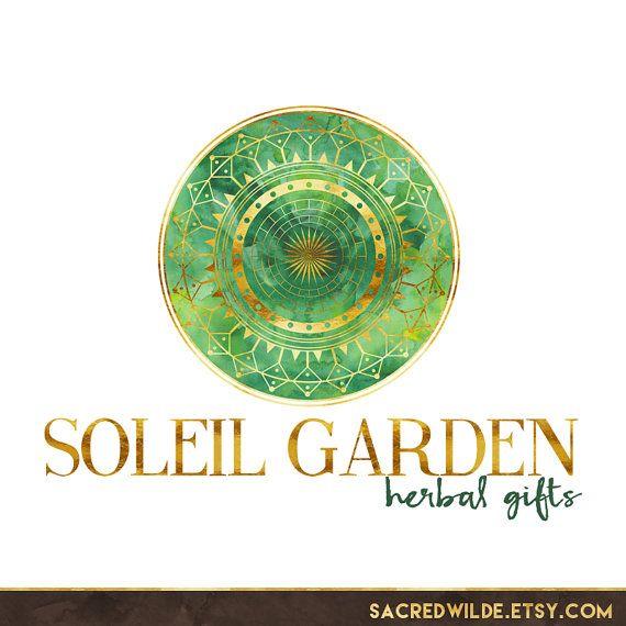 Mandala Logo Design, Circle Logo, Green and Gold, Green Logo, Gold Logo, Tribal Logo, Ethnic Logo, Native Logo, Yoga Logo