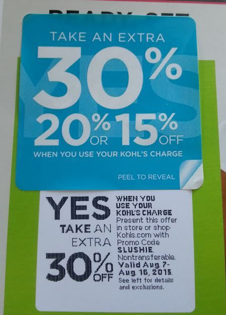 Kohls 30 percent coupon code