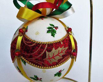 Ornamento di Natale - drappeggiato Holly
