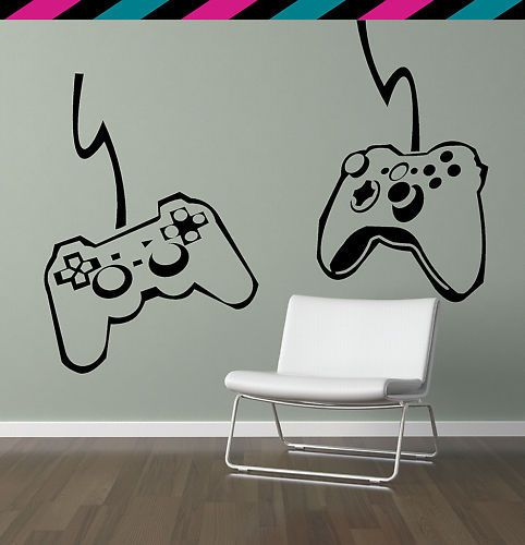 PS3 Xbox 360 Video Game Controllers Wall Decal | eBay