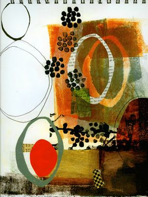 art journal-love the circles and color scheme