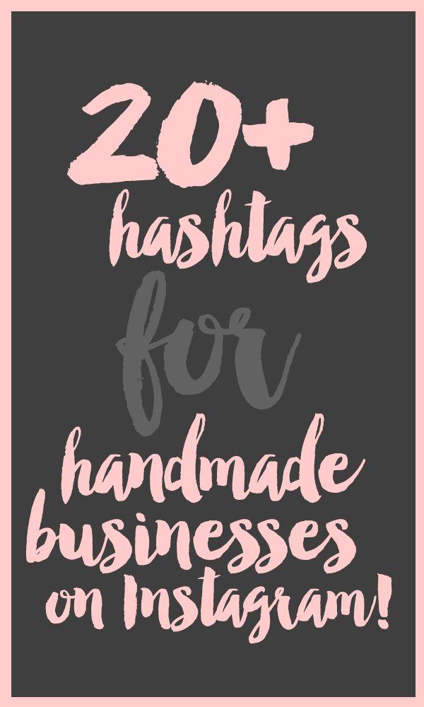 20+ Hashtags for Handmade Businesses on Instagram