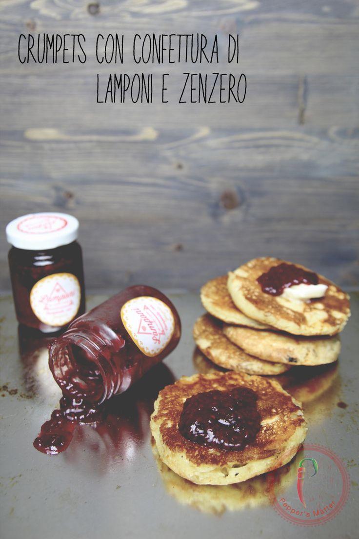Crumpets con Confettura di #Lamponi e Zenzero @LamponideiMontiCimini