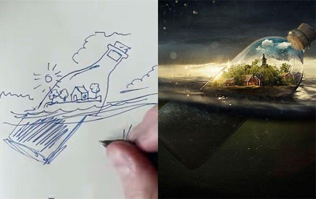 Мастер фотошопа Эрик Йоханссон показывает в видео, как он создаёт свои галлюциногенные фотоиллюзии