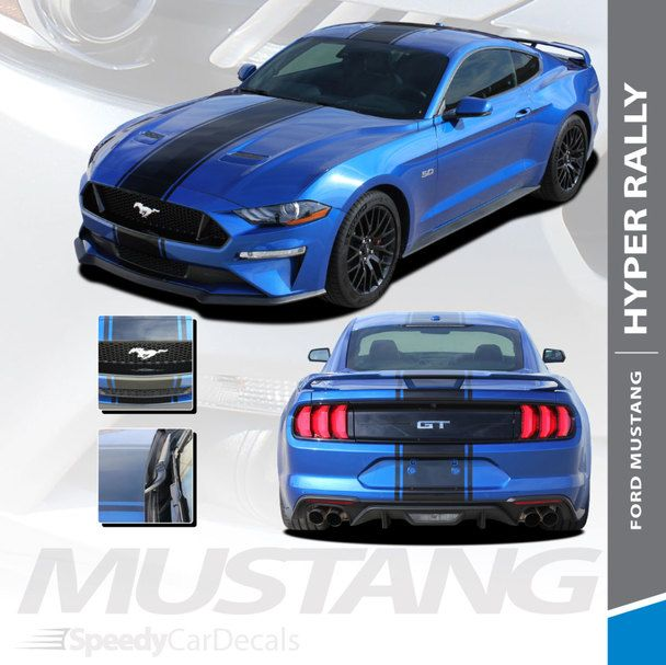 2018 2019 2020 Ford Mustang Racing Stripe Wide Center Decals Hyper