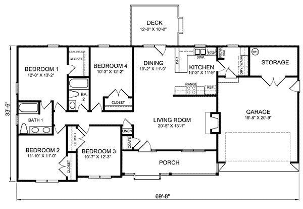 3 Bedroom Ranch Style House Plans Pictures
