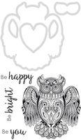 Decorative Die & Stamp Owl